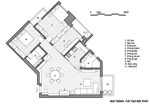 Chiếc cửa trượt duy nhất loại bỏ nhược điểm của căn hộ Hà Nội