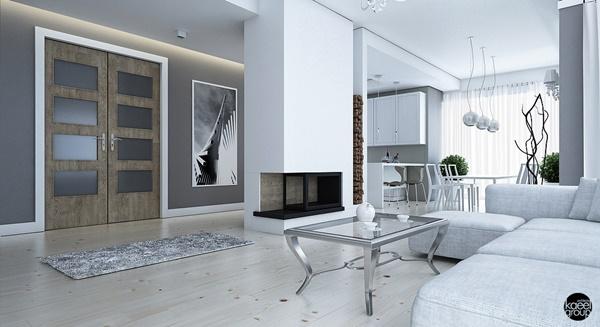 Sang trọng và thanh lịch với thiết kế nội thất màu trắng