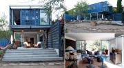 Ngôi nhà 128m² sang trọng nằm gọn lỏn trong 4 chiếc container bỏ hoang