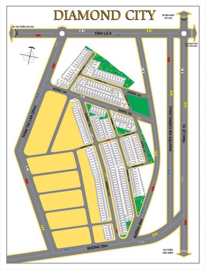 Khu dân cư Diamond City Củ Chi (Tân Quy Center)