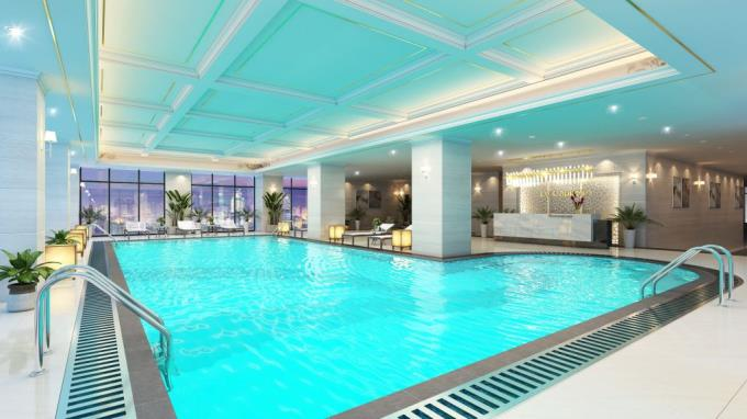 Bể bơi trong nhà dự án 27 Thái thịnh