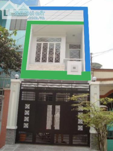 Nhà mặt tiền đường Đoàn Nguyễn Tuấn 4x15m giá 580 triệu ,1 trệt + 1 lầu.SHR,nhà mới NT đẹp - 0
